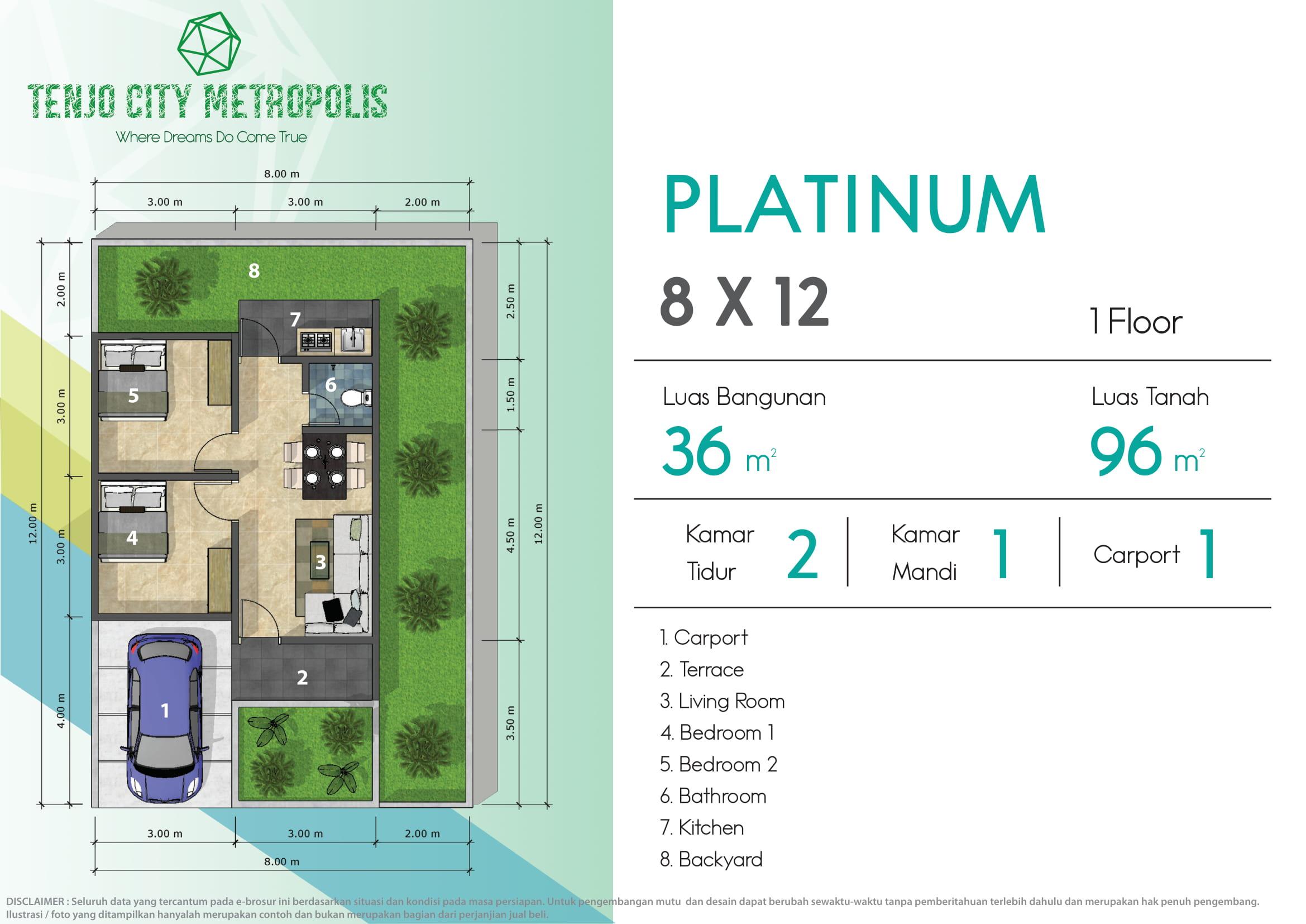 Image - PLATINUM 8 X 12 - Property Millennial - Cluster - Rumah - Apartemen - Ruko