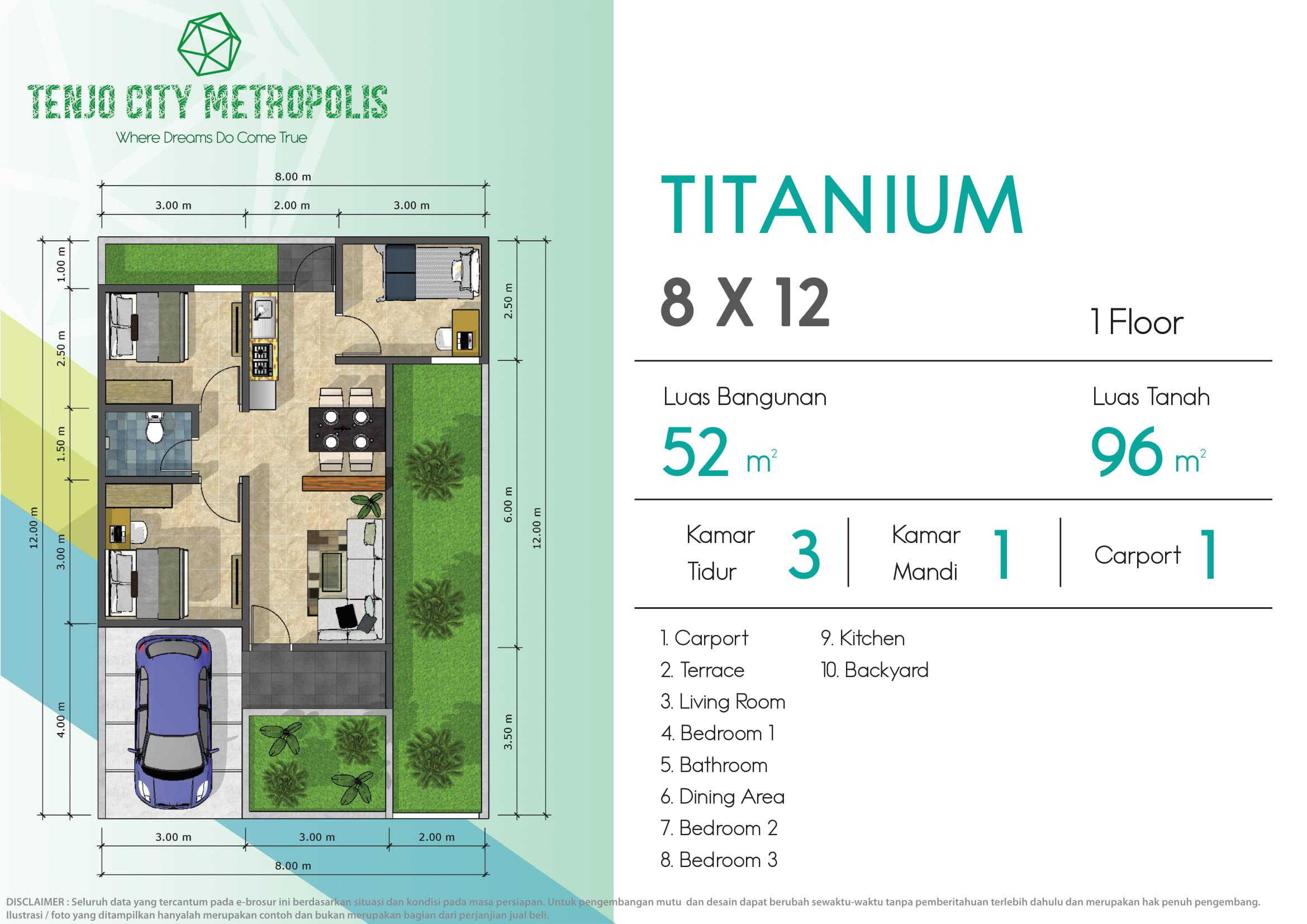 Image - TITANIUM 8 X 12 - Property Millennial - Cluster - Rumah - Apartemen - Ruko